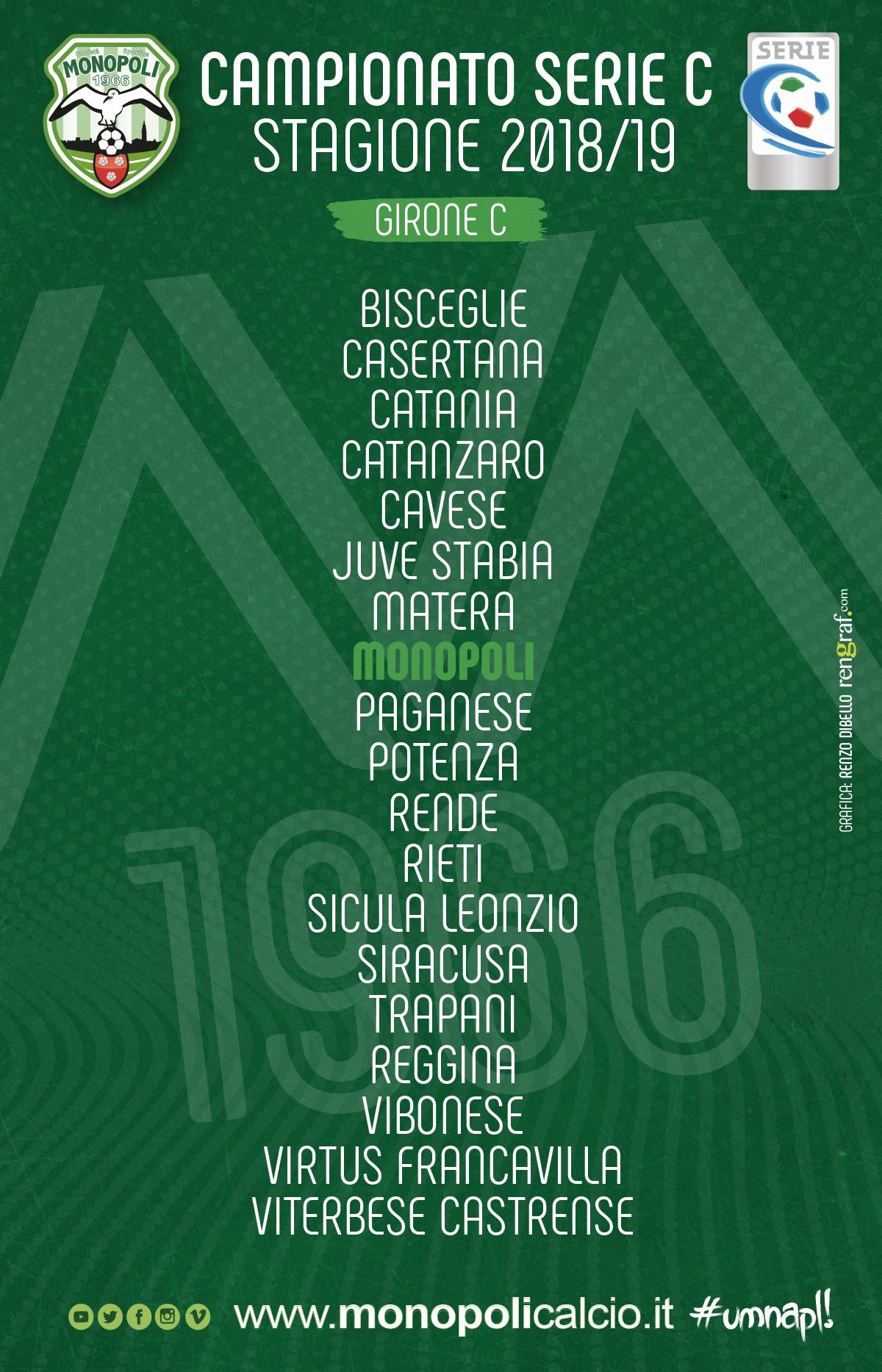 Calendario Lega Pro Girone C.Serie C Ecco Il Girone C 2018 19 S S Monopoli 1966